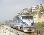 AMTK 450 Pushing Pacific Surfliner #573