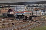 Amtrak 822, Downeaster 687 on North Station Leads