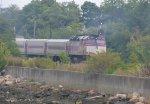 MBTA F40PH-2C 1027 on Rockport Line train 1105