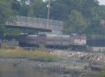 MBTA Rockport Line train 1105