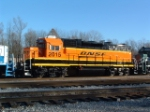 BNSF GP38-2 2015, rebuilt from GTW GP40 6403 (note gap between rear fans)