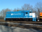 "GMTX GP38-2 2128 back in ""baby blue"" similar to its delivery as ""The Rock"" 4318"