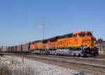 BNSF 6062 on NS coal train heading south (near King Plow)