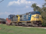 CSX 7742 in the siding