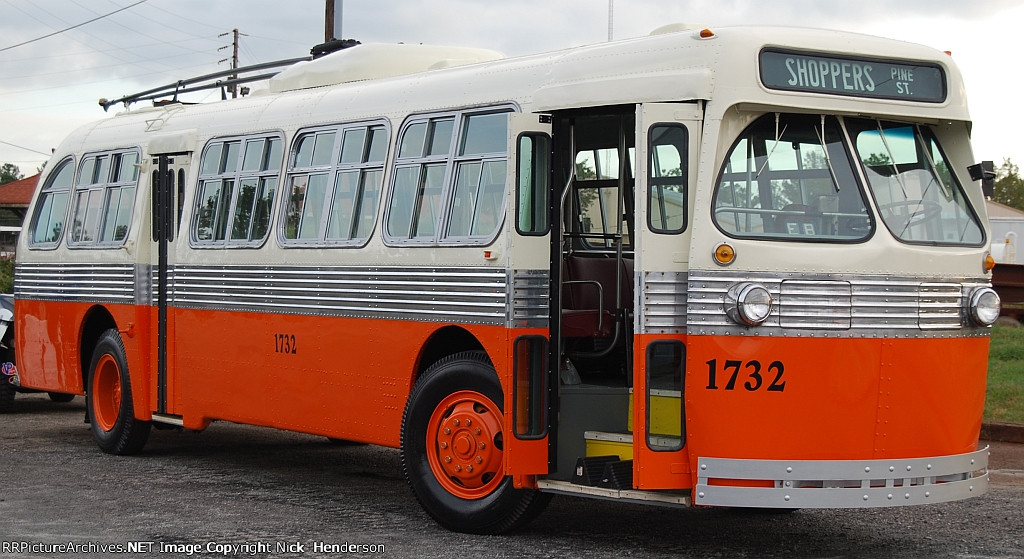 Atlanta Transit System Trackless Trolley Bus #1732 at SRM