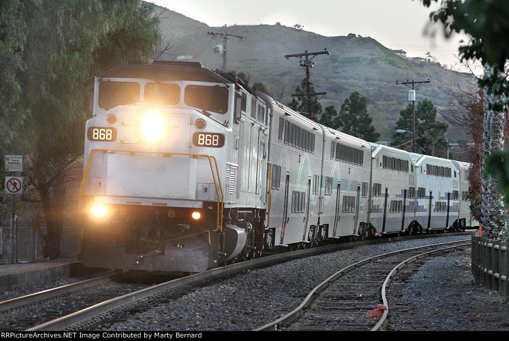 Metrolink 868 With San Bernardino Train 808