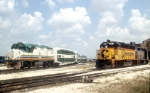 TriRail 803 and CSX 6829 at CSX Shops