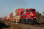 CP 8902 is brand new and leads east bound #110 at Larchwood, ON