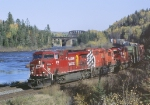 CP 9716 6060 5994 is w/b with #221 at Sistons Corners, ON