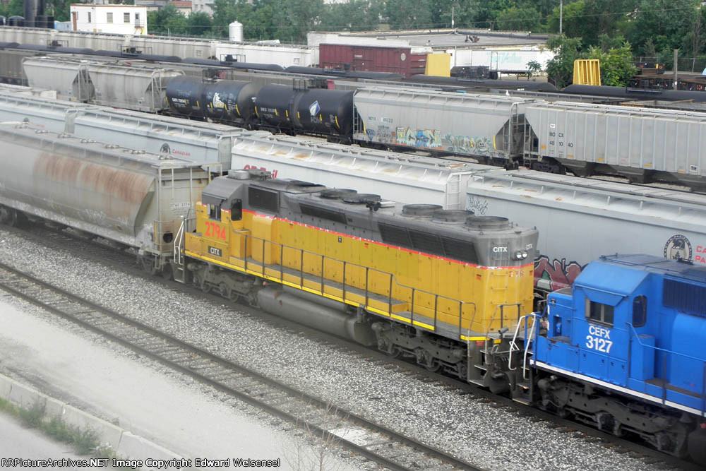 Pair of Sd40m-2 trail todays ICE 6212 on Cp 277