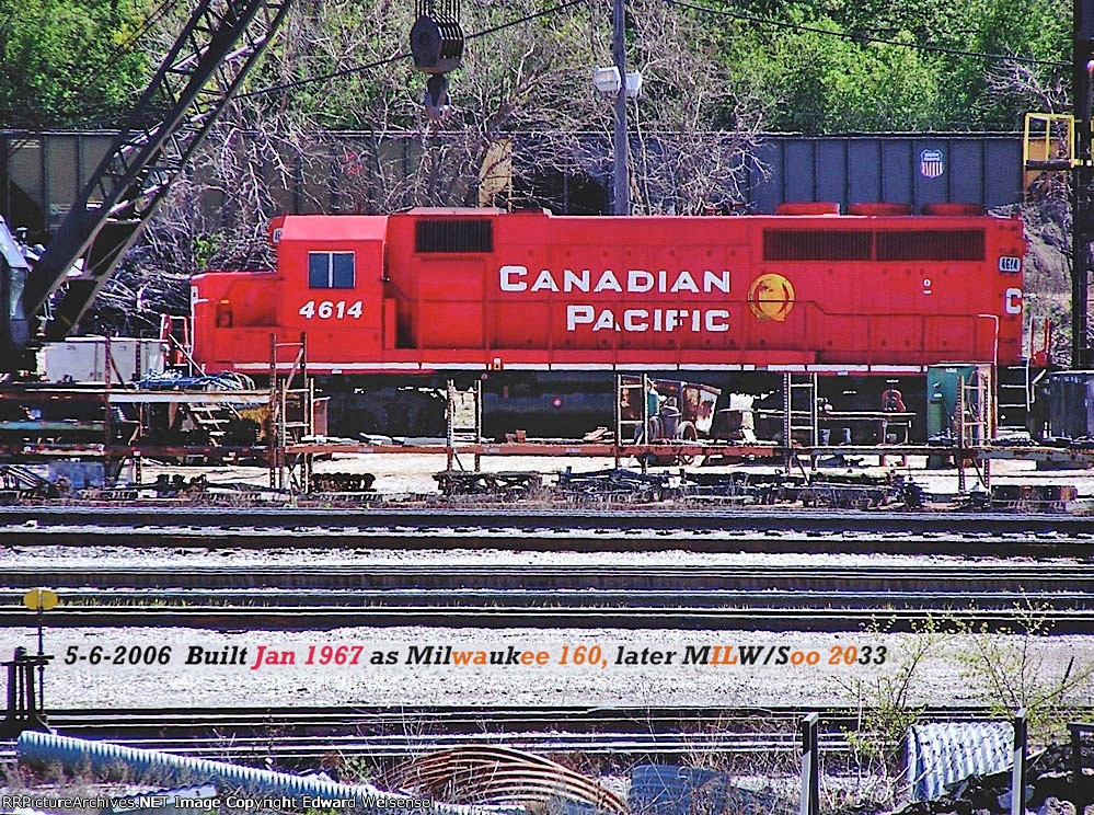 Little beaver CP 4614 feels right at home in Muskego yard