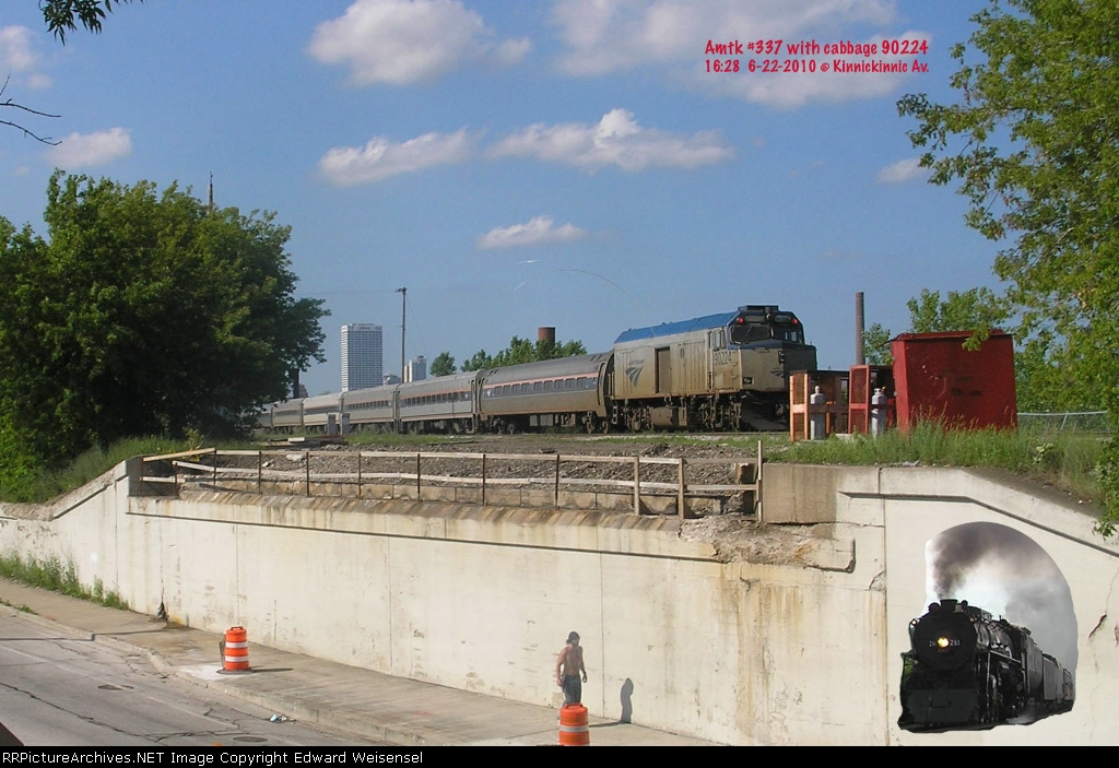 Cabbage 90224 will be eyes of the Chicago-bound Hiawatha runs today. What's that unusual whistle?