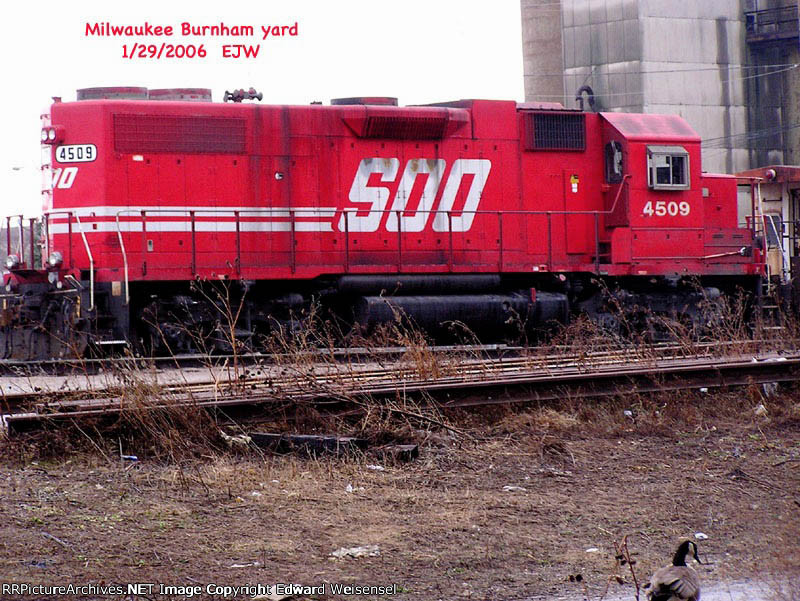 "Soo 4509 has ""THE BRIDGE"" - Burnham"