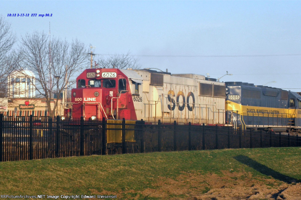 Sd60 6026 leads 277 on Leprechaun Day