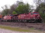 Beavers 8536 and 9836 lead train 198 to Bensenville