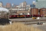 CP 287 pulls up through Muskego yard