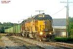 Ballast train rolls south