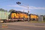 Ballast train rolls across W. Memorial Dr. mp 92.3