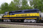 One of 3 GP40-2's painted for Alaska RR along with 3002 & 3005