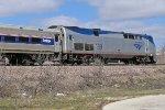 AMTK 159 leads a morning Hiawatha into Milwaukee
