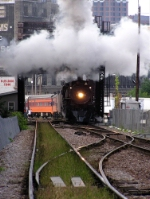 261 steam-cleans the Menomonee River bridge counterweight