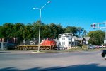 CN 2701 hits this grade crossing which is about to be rebuilt