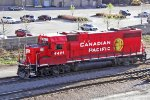 CP 4421 hauls a long shadow around 'Squito yard