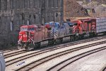 CP 8544 rolls down the south edge of Muskego yard