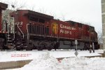 Cp Beaver 8632 heads up the 2nd section of CP train 280
