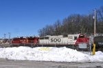 CP 8636 and Soo 6039 roll west into Tosa