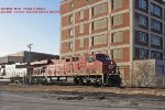 CP 8724 rolls to the depot after another CP crewman hitched a ride to the B'ville poker game