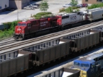 Gevo and Sd60 teamed to bring train 282 into the south side of Muskego yard