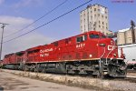 CP 8857 + the beaver are Riprapping