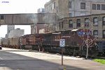 CP 9518 heads out Wash 4 while Soo 4439 works the east yard off Wash 3