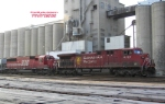 CP train 282 waits out Hiawatha's departure to Chicago.