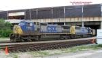CP coke train #800 led by CSX power creeps thru the depot