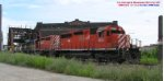 CP train 487 hangs a left gently west thru the depot
