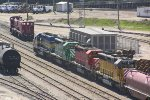 Colorful quartet pulls CP train 276 into Muskego yard