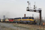 282's quartet: Cefx 3811 and Soo 6023 trail a pair of ICE 40-2's