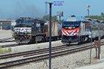 "IAIS ethanol train holds for the NKP 765 ""Joliet Rocket"" excursion"