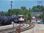 "IAIS ethanol waits opposite NKP 765 ""Joliet Rocket"" excursion's southward leader"