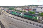 277 pulls west on 3 lead to the Muskego yard derail