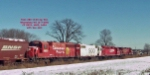 CP 8533 rolls with 3 siblings as train 280 approaches Milwaukees CP Muskego yard