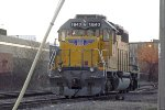 Sd40N framed following 92-day servicing holds down the scale track