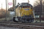 Sd40N fresh from 92-day servicing holds down the scale track