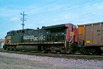 UP 6275 is the pushy caboose with today's WEPX coal empties