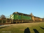 CEFX 7105 leads 2 SD70Ms on our last Atmore train - Q605