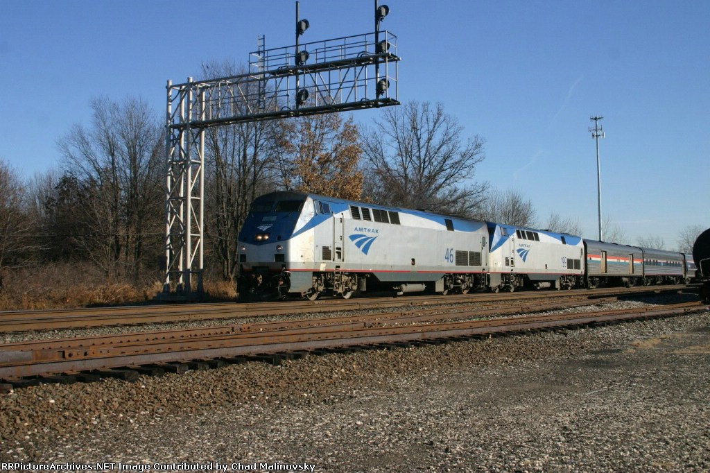 AMTK 46 on the Lake Shore Limited