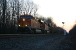 BNSF 5859 splits the dead signals with a DEEX train