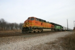 BNSF 4663 delivers new FEPX hoppers from Johnstown